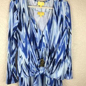 Liz Lange Blue stripe dress with jacket